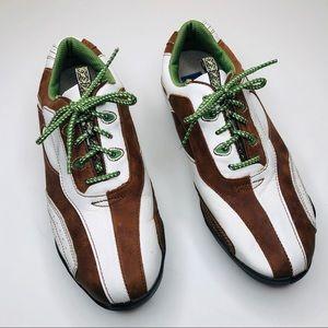 FootJoy Lo Pro Golf Shoes Cleats Women's 7 Brown